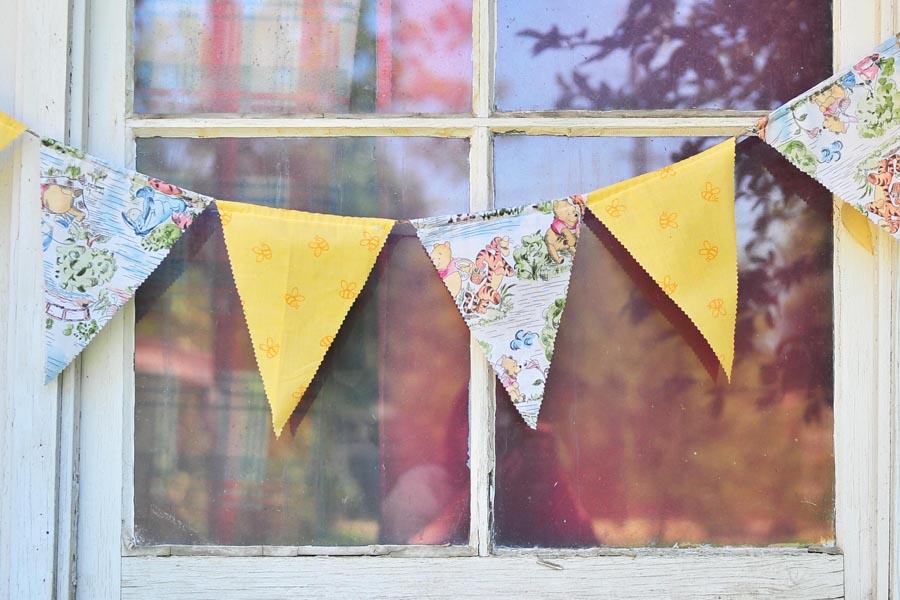 DIY Fabric Pennant Banner Tutorial   Domestic Geek Girl